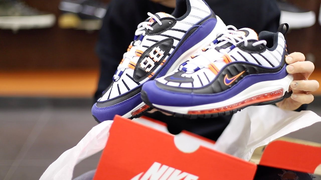 Unboxing Sneakers Nike Air Max 98 White