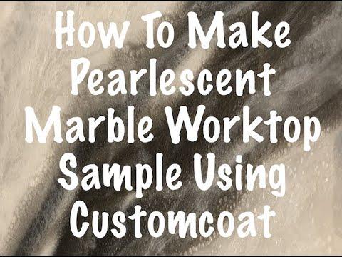 How To Make White Marble Epoxy Worktop Sample Kit