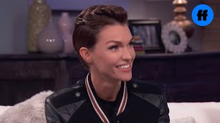 Ruby Rose Plays Cheek Retractor Game | Movie Night with Karlie Kloss | Freeform
