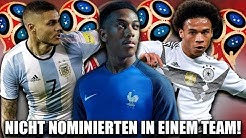ALLE NICHT WM KADER NOMINIERTEN IN EINEM TEAM ?! 🔥😱   FIFA 18: Karrieremodus Experiment