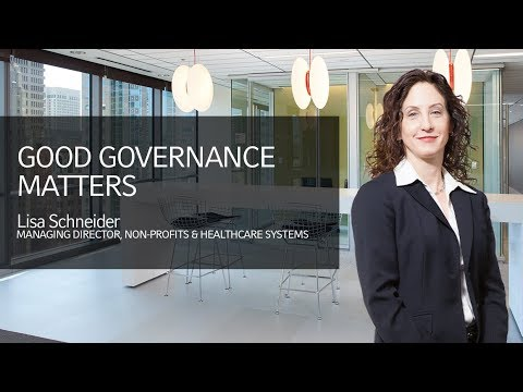 Institutional investors: Good governance matters