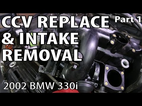 BMW 330i 325i E46 CCV Replace & Intake Removal (Part 1) - See It Clearly! P0171 P0174 Repair