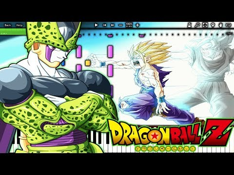 IMPROVED! PERFECT CELL THEME - Dragon Ball Z OST (Piano Tutorial) remix