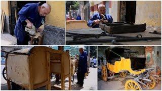 «علي جابر» صانع الحناطير الملكية.. هنا صنعت عربة الملك فاروق