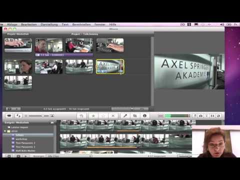 Schulungsvideo - Tonschnitt bei iMovie
