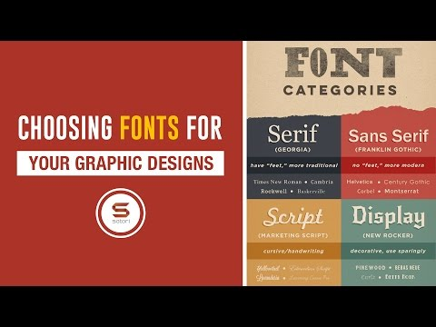 WHAT TYPEFACES OR FONTS TO CHOOSE FOR YOUR GRAPHIC DESIGNS