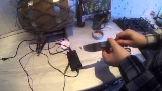 Травление клинка с помощью сетки(в видео использована сетка для электро-химического травления., 2015-01-19T07:05:25.000Z)