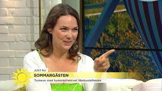 """Anna Blomberg bjuder på sina bästa imitationer: """"Har jag gjort någon i Nyhetsmo - Nyhetsmorgon (TV4)"""