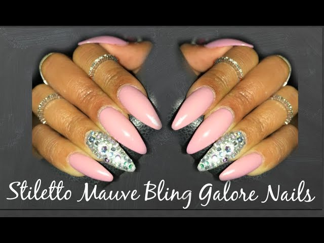 DIY Nails | Mauve Bling Galore