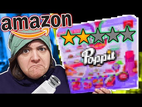 Seriously? TESTING AMAZON'S LOWEST RATED CRAFT KIT Ft. SuperRaeDizzle Poppit Clay SaltEcrafter #55