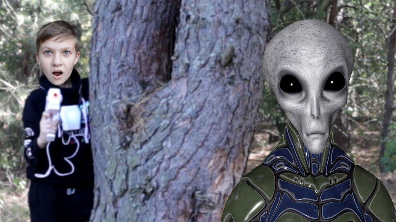 Пришельцы в нашем лесу! Экстремальная битва Royal Battle с Laser Х 1 серия Aliens in real life