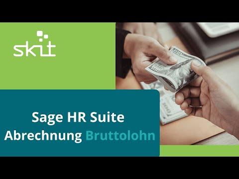 Sage HR Suite - Abrechnung Bruttolohn