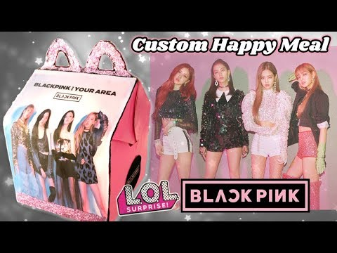 BLACKPINK DDU-DU DDU-DU CUSTOM LOL DOLL McDONALDS HAPPY MEAL Surprise + FUR REAL inside!