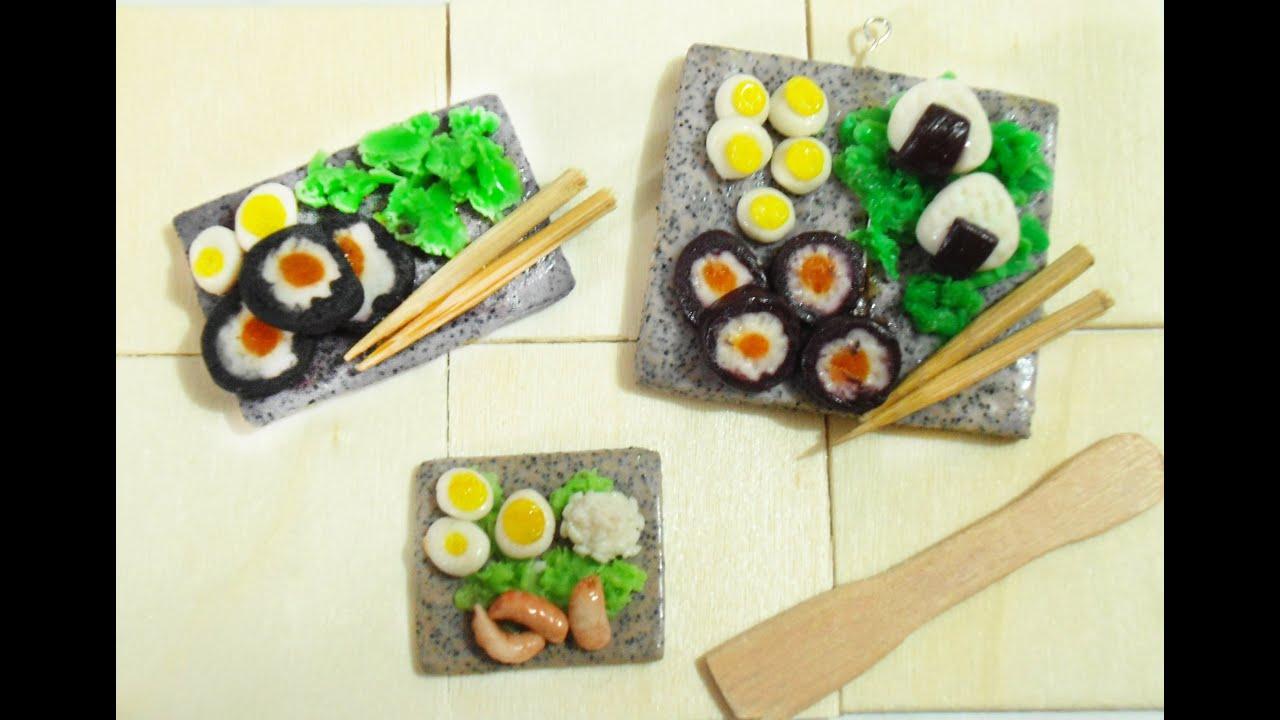japanese miniature food tutorial granite clay tutorial sushi para muecas porcelana fra youtube