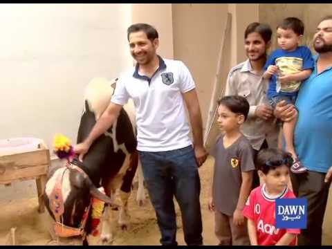 Cricket Star Sarfraz Ahmed celebrating Eid in home town thumbnail