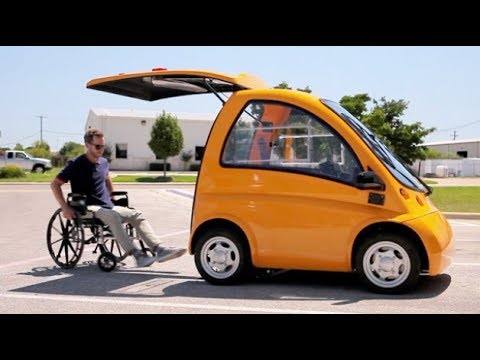 Кенгуру Электромобиль для инвалидов-колясочников | Kenguru car | Новинки Наука и техника - Видео онлайн