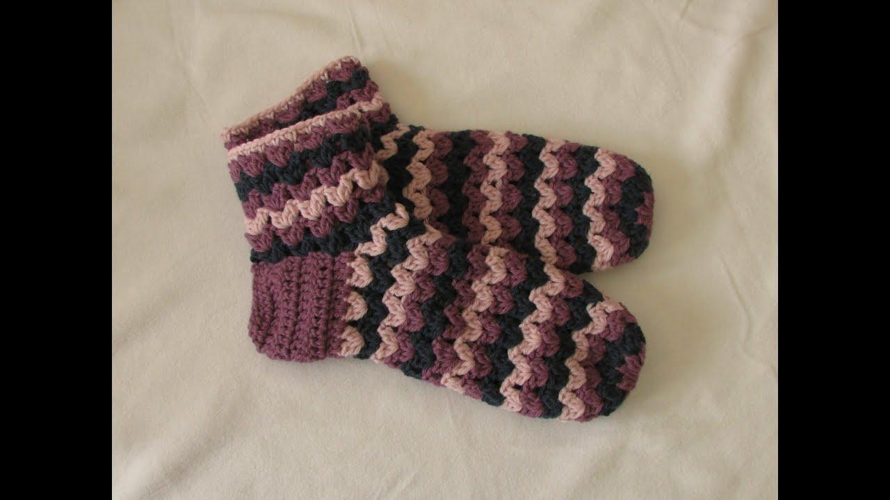 VERY EASY chunky crochet slipper socks tutorial - part 1 - YouTube