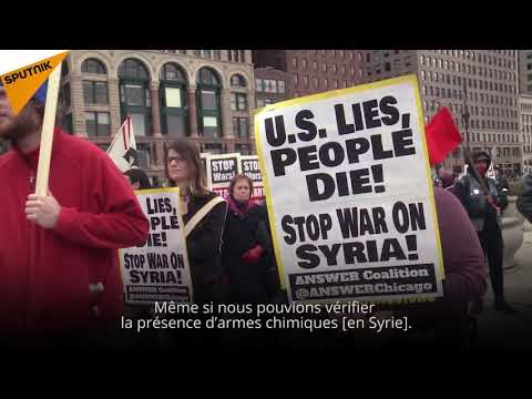 Des Américains contre les frappes en Syrie: «Les USA mentent, des gens meurent»