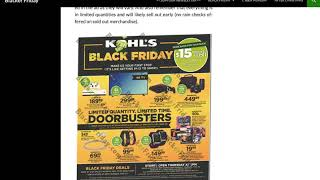 Kohl's Black Friday 2018 Sale Predictions