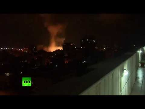 RAW: Israel strike destroys Gaza police HQ in overnight airstrikes