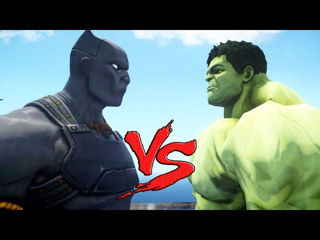 BLACK PANTHER VS HULK - EPIC BATTLE