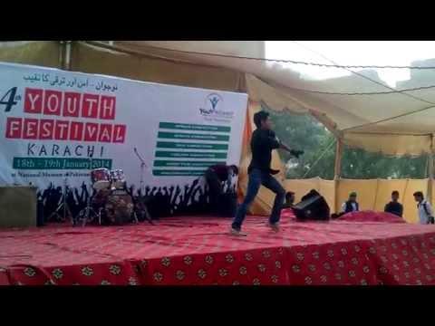 abhi mujh mein kahin best dance at a talent show (Pakistan)