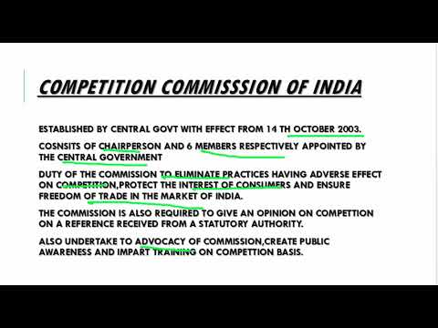 POWER AND FUNCTIONS OF COMPETITION COMMISSION OF INDIA