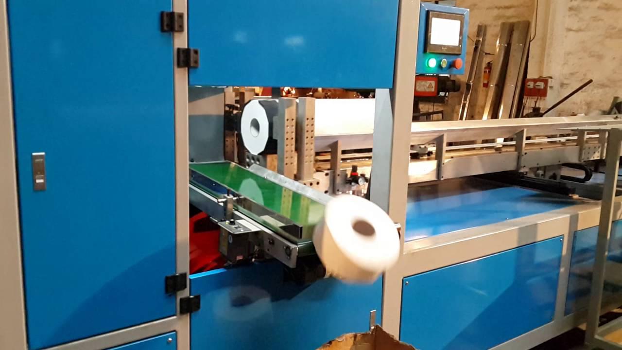 Papercraft Automatic bobbin paper maxi roll jumbo toilet paper cutting machine