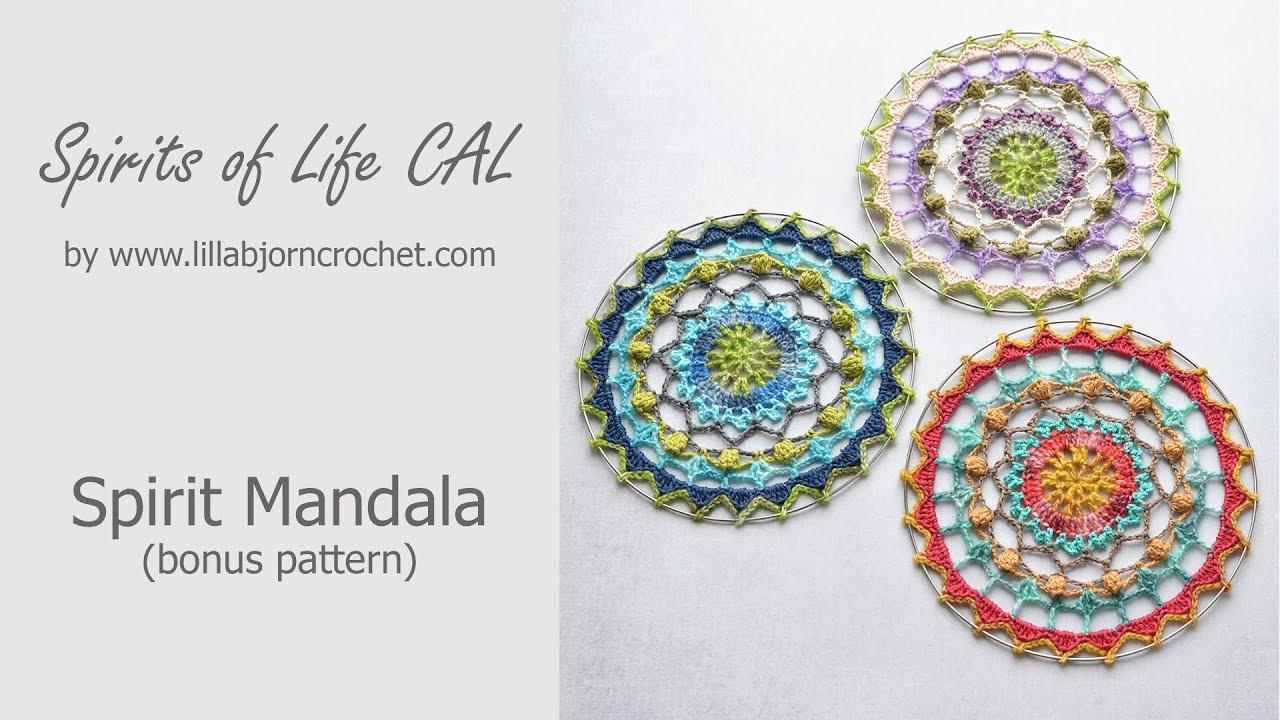 Spirits Of Life Cal Crochet Mandala Wall Hanging Bonus Pattern