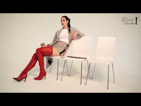 Inspiration: Fashion Magazine Editor Style With Red Thigh-high Leather Boots (Model 106)