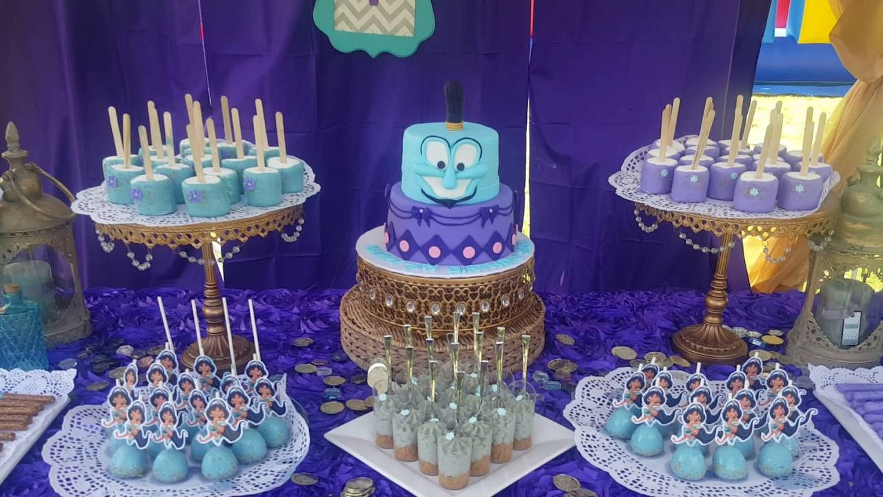 Disney S Princess Jasmine Birthday Dessert Table Youtube
