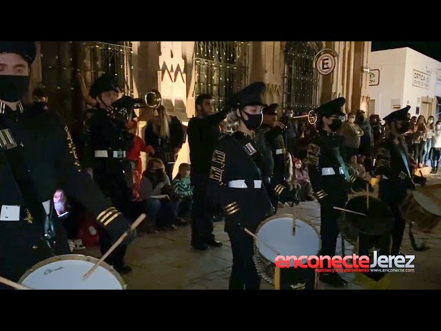 Ofrenda musical Virgen de la Soledad Banda de Guerra Bardos de Jerez