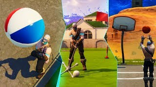 Playing Basketball, Golf, and Volleyball in Fortnite..