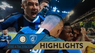 INTER 2-1 EMPOLI | HIGHLIGHTS | We're in the 2019/20 UEFA Champions League!