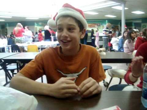 McCleskey Middle - Josh At Lunch