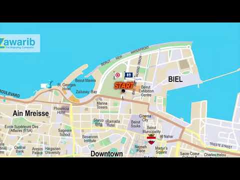 21.1 KM Map English Version | Animated Map | BLOM BANK BEIRUT MARATHON 2017