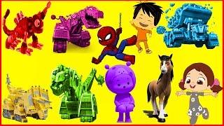 Ege ile Gaga Dinozor Makineler Örümcek Adam Niloya Mini mini hutoslar Doru Renkleri Öğreniyorum