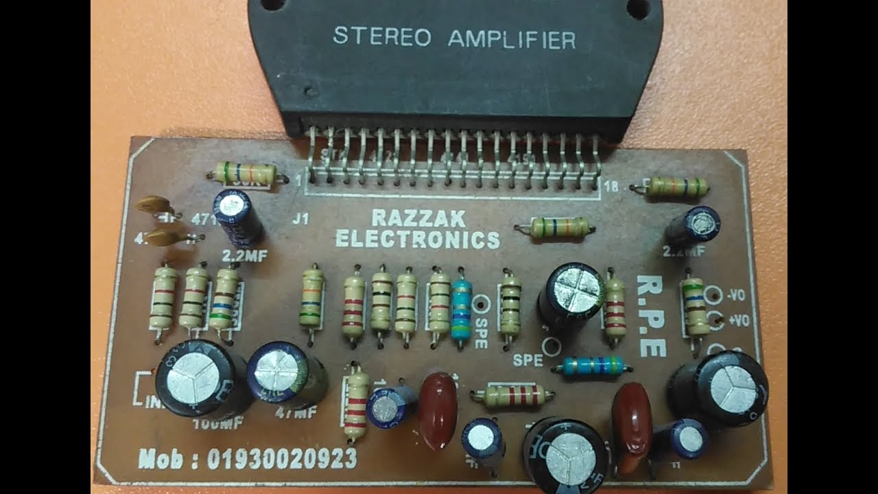 stk4141 ic circuit diagram youtubehowtomakeamplifier amplifiercircuit 2sc5200