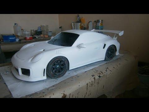видео: Кузов Porsche 911 из стеклопластика на радиоуправляемую машину