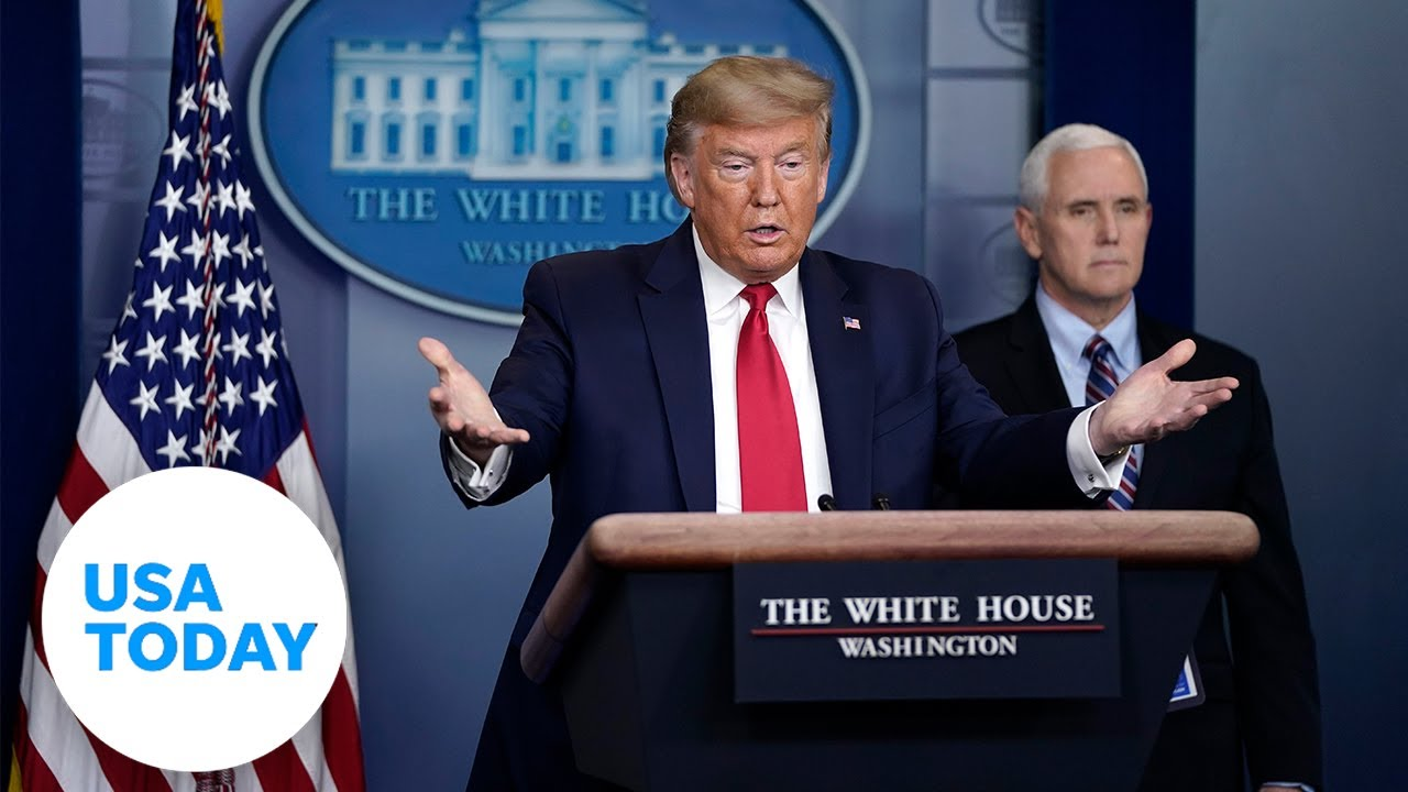 President Trump and coronavirus task force update on pandemic, Monday, April 14   USA TODAY