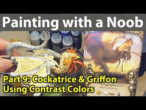 Painting with a Noob Part 9: Cockatrice & Griffon with Contrast Paints