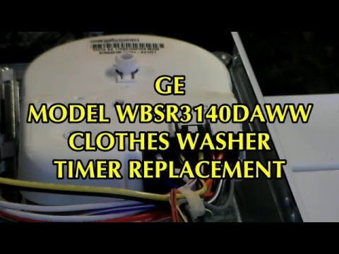GE Washer Timer Replacement on