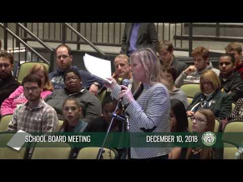 School Board meeting, 12/10/2018
