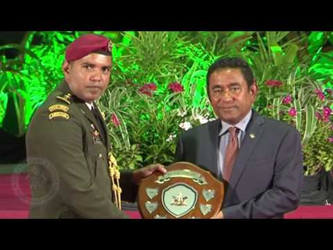 Ceremony held to celebrate Maldives National Defense Force's 125th Anniversary