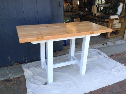 Woodworking : DIY Edge-Grain Butcher Block Kitchen Table // How-To Part 2