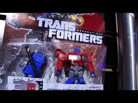Toy Fair 2013 Transformers  Legends Optimus Prime with Roller \u0026amp; Bumblebee with Blazemaster