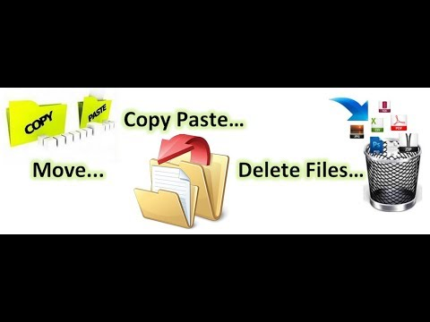 How To Copy Cut Paste Delete Rename Folder In Windows Urdu Hindi
