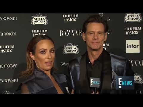 Jim Carrey seriously bizarre tetrahedron and cultural knowledge NYFW interview