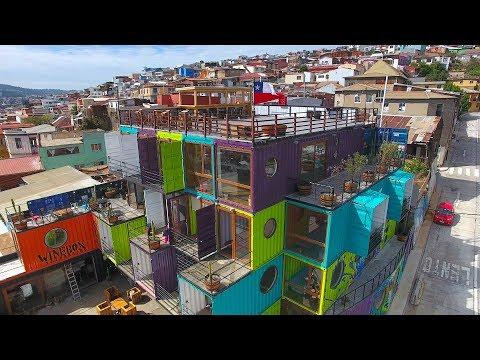 Video Tour of WineBox Valparaiso, Chile   Apart Hotel   Wine Bar