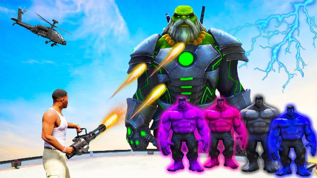 GTA 5 : Franklin and Future HULK Fight for Infinity Stones in GTA 5 mods SHINCHAN